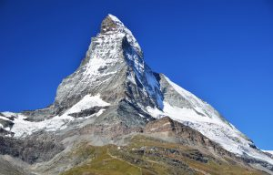 Matterhorn (Monte Cervino) is one of the highest summits from Europe. Zermatt, Switzerland